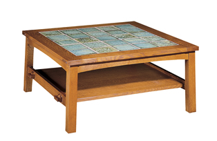 Stickley tile top coffee table