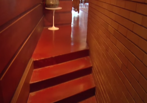 FLW Cooke House concrete staircase