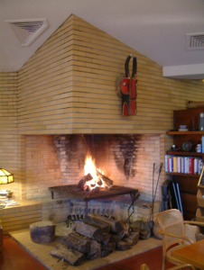 FLW Cooke House fireplace