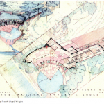 FLW Watercolor plan Cooke House